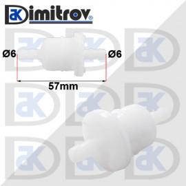 Горивен филтър бензин Ø6 х Ø6 х 57 mm