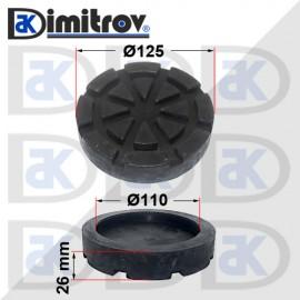 Гумен тампон за подемник с пета Ø110 mm
