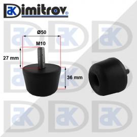 Буферен тампон M10 x Ø50 x 36 mm