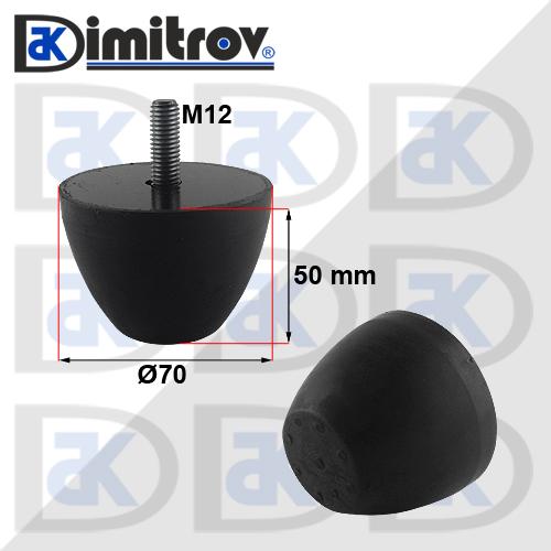 Буферен тампон M12 Ø 70 х 50 mm