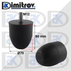 Буферен тампон M12 Ø 70 х 80 mm