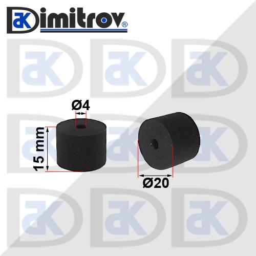 Буферен тампон Ø4 х Ø20 х 15 mm