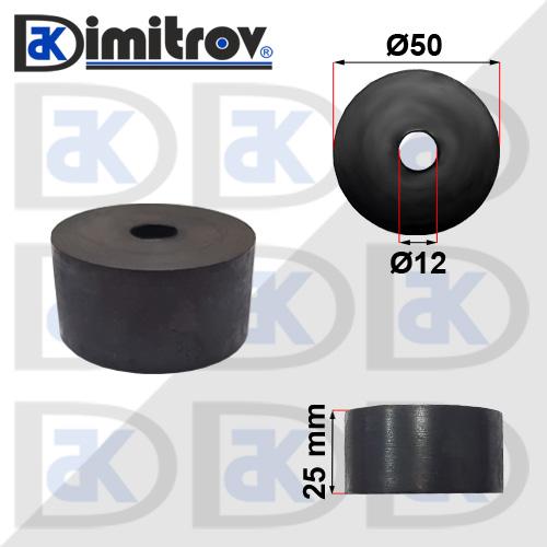 Буферен тампон Ø12 х Ø50 х 25 mm