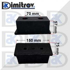 Буфер тампон 75 х 150 х 57 mm