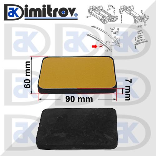 Подложка гумена 60 х 90 х 7 mm Mercedes Vario