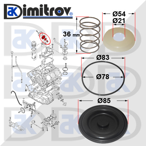 Ремонтен комплект клапан картерни газове Audi 100 A4 A6 A8 Skoda Superb VW Passat