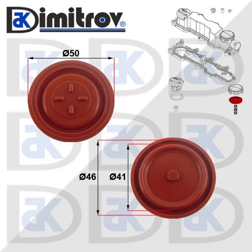 Мембрана клапан картерни газове Peugeot 1007 206 207 3008 307 308 407 5008 Expert Partner