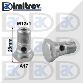 Болт холендров M12x1 - 28 mm