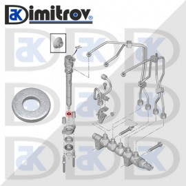 Дифтунга алуминий Ø7,2 х Ø16 х 2,3 mm Citroen C4 C5 C8 DS4 DS5 Jumpy