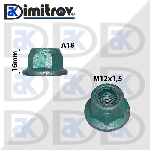 Гайка фланцова M12 Audi A1 A2 A3 A4 A5 A6 A7 A8 Q3 Q5 TT R8 100 200 80 V8