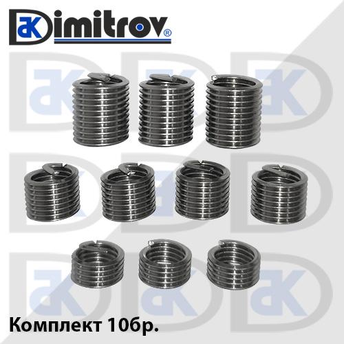 Втулка резба M10 x 1,5 - комплект 10бр
