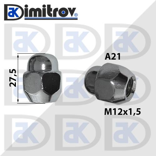 Гайка джанта М12х1,5 А21 26 / 27,5mm Hyundai
