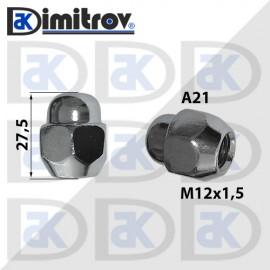 Гайка джанта М12х1,5 А21 26 / 27,5mm Kia