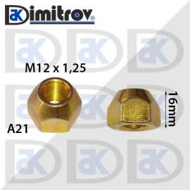 Гайка джанта М12х1,25 А21 16mm