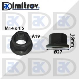 Гайка джанта M14х1,5 A19 16mm
