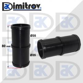 Права свръзка за маркуч Ø35 x Ø35 x 80 mm - PVC