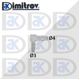 Коляно маркуч Ø 3 x Ø 4 мм