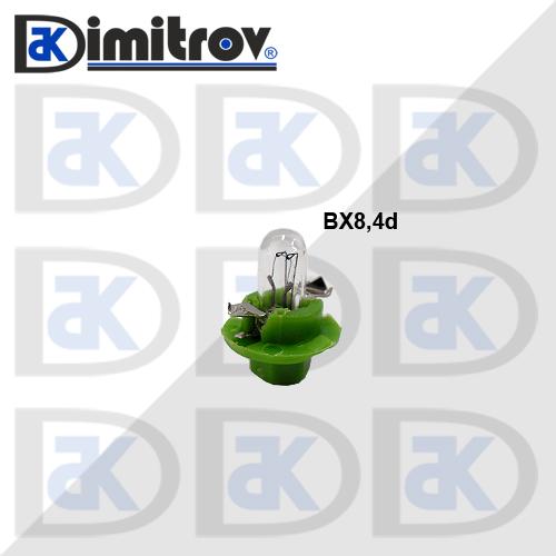 Крушка табло BX8.4D зелен