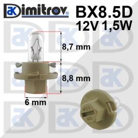 Крушка табло BX8.5D жълт