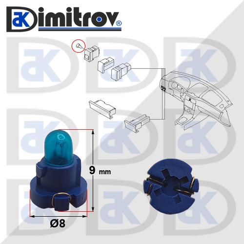 Фасунга крушка индикаторна светлина Subaru Forester