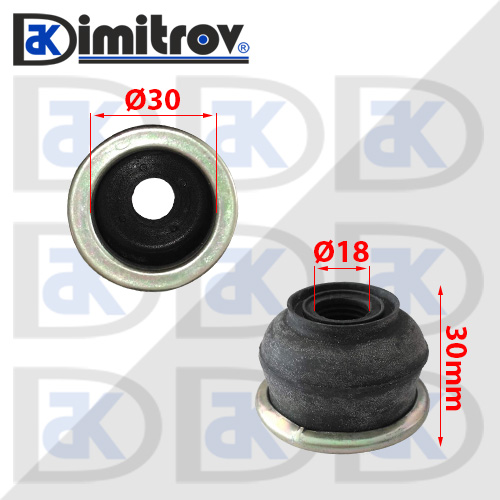 Маншон гумено-метален Ø18 х Ø30 х 30 mm
