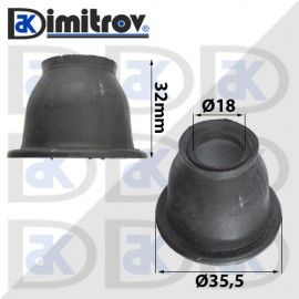 Маншон гумено-метален Ø18 х Ø35,5 х 32 мм