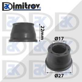 Маншон гумено-метален Ø17 х Ø27 х 22 мм