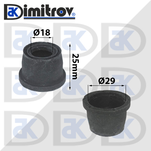 Маншон гумено-метален Ø18 х Ø29 х 25 мм