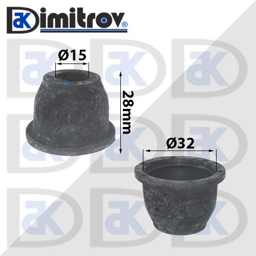 Маншон гумено-метален Ø15 х Ø32 х 28 мм