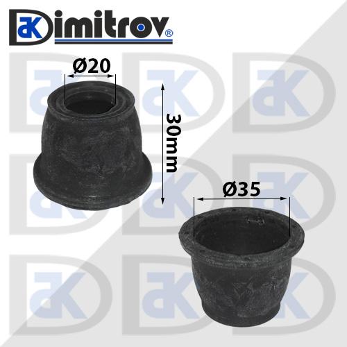 Маншон гумено-метален Ø20 х Ø35 х 30 мм
