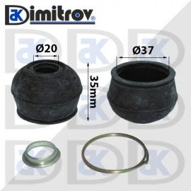 Маншон гумено-метален Ø20 х Ø37 х 35 мм