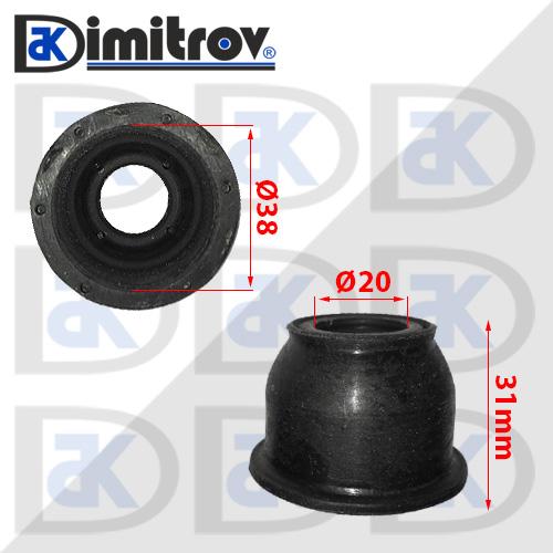 Маншон гумено-метален Ø20 х Ø38 х 31 мм Infiniti FX