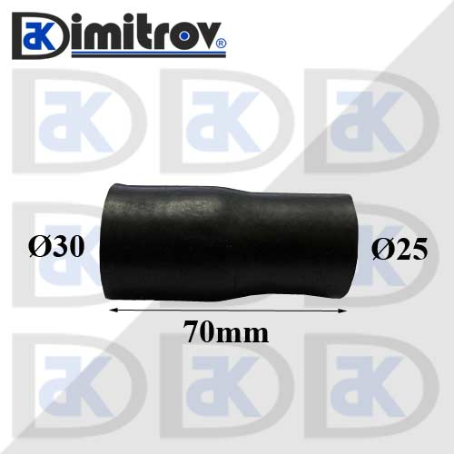Гумено съединение Ø25 x Ø30 x 70 mm