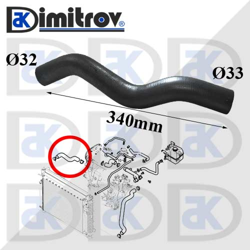 Маркуч радиатор горен Chevrolet Captiva Daewoo Winstorm Opel Antara