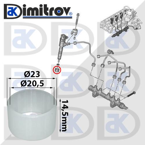 Предпазител на инжектора Citroen Berlingo C-elysee C3 C4 C5 DS3 DS4 DS5 Jumpy