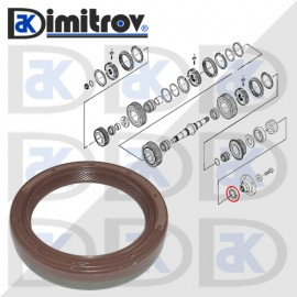 Семеринг 40 х 52 х 9 мм Iveco Daily III
