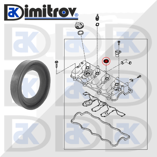 Уплътнение Ø20 x Ø35 x 8 mm Hyundai Elantra i30 Santa Fe Sonata Trajet Tucson