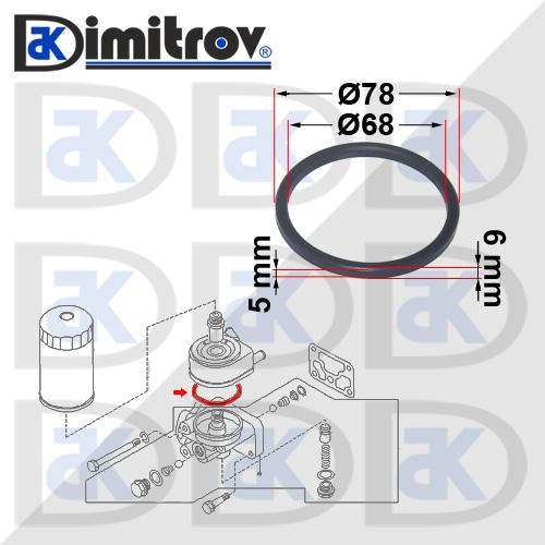 Уплътнение маслен охладител Infiniti EX25 EX35 EX37 FX35 FX37 FX50 G I35 JX M Q50 Q60 Q70 QX4 QX50 QX70