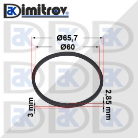Семеринг правоъгълно сечение Ø60 x Ø65,7 x 2,85 / 3 mm