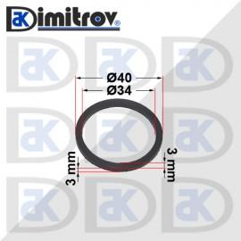 Семеринг правоъгълно сечение Ø34 x Ø40 x 3 / 3 mm