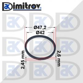 Семеринг правоъгълно сечение Ø42 x Ø47,2 x 2,6 / 2,45 mm