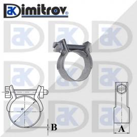 Скоба мини Ø  8 - 10 мм