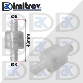 Клапан възвратен течност чистачки Ø 8 mm