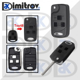 Кутийка ключ 3 бутона TOY48 Toyota Avalon Camry Corolla Echo Land Cruiser Prado Rav4 Tarago Land Cruiser Yaris