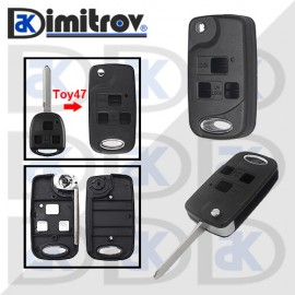 Кутийка ключ 3 бутона TOY47 Toyota Avalon Camry Corolla Echo Land Cruiser Prado Rav4 Tarago Land Cruiser Yaris