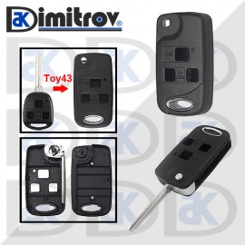 Кутийка ключ 3 бутона TOY43 Toyota Avalon Camry Corolla Echo Land Cruiser Prado Rav4 Tarago Land Cruiser Yaris